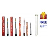 UNIVERSAL SET OF ALCOHOL HYDROMETERS BEER MOONSHINE WHISKEY WINE LIQUOR SUGAR