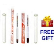 2 ALCOHOL HYDROMETERs MOONSHINE WHISKEY WINE LIQUOR BEER + 2 PCS TEST TUBE