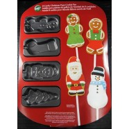 Mouse over image to zoom NEW! Wilton ***CHRISTMAS Non-Stick COOKIE POP PAN*** 8 cavity NIP 0286