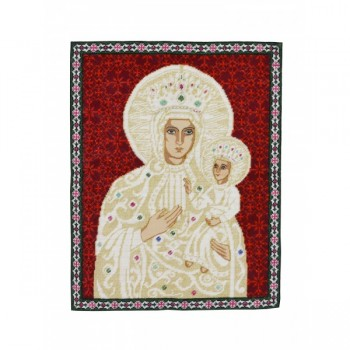Holy Mother of God Hand Embroidered Icon