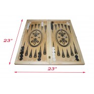 "ANDMADE WOODEN BACKGAMMON SIZE 23 "" x 23 "" НАРДЫ"