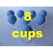 ANTI-CELLULITE VACUUM MASSAGE CUPS BRAND NEW GLAS SET 8