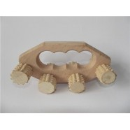 WOODEN ROLLING FOOT MASSAGER BADY HEALTH MEDICAL TOOL