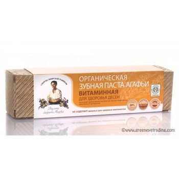 """RECIPES OF GRANDMA AGAFIA"" VITAMIN TOOTHPASTE WITH ORGANIC INGREDIENTS"
