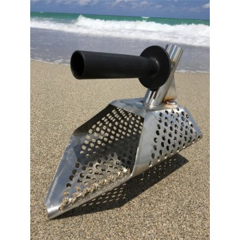 New Beach Sand Scoop with Extra Handle Metal Detecting Tool Stainless Steel